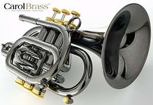 CarolBrass(キャロルブラス) N3000 BLK GB-BELL Bbポケットトランペット ゴールドブラス・ブラックニッケル