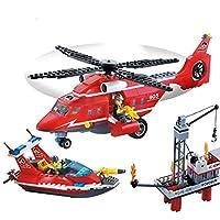 Legeo 404ピース 消防隊チーム タイル DIY 組み立てブロック モデル 子供用 玩具