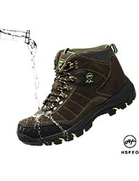[HSFEO]トレッキングシューズ メンズ/レディース ハイカット スエード 防水 防滑 透湿 23.0-27.5CM 登山靴 ハイキングシューズ クッション 耐磨耗 衝撃吸収 アウトドア 四季 マゼンタ/グレー/グリーン/ブラウン