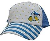 (ディズニー)Disney KIDSキッズ (ドナルドダック)Donald Duck アイコンボーダーメッシュキャップ サックスブルー
