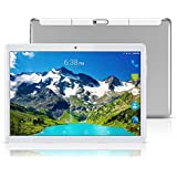 "Android 8.1 Tablet 10 Inch (10.1""),Octa Core,3G 4G Dual SIM Phablet Tablets PC,Dual Camera,4GB Ram+64GB Disk,WiFi,GPS,OTG (Silver)"