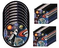 Space Blast Birthday Dessert Napkins & Plates Party Kit for 8 [並行輸入品]