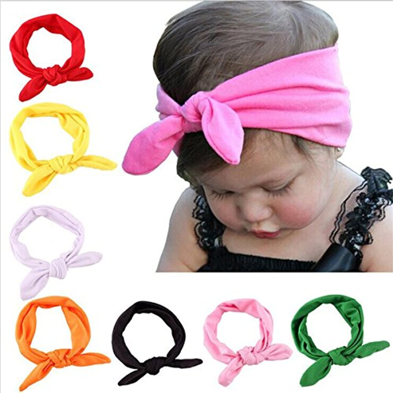 naisidierベビーガールズヘッドバンド新生児幼児Headwear、かわいいヘッドラップwithヘアリボン
