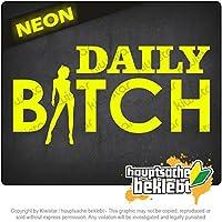 Kiwistar デイリー・ビッチ Daily Bitch 20cm x 10cm 15色 - ネオン+クロム! ステッカービニールオートバイ