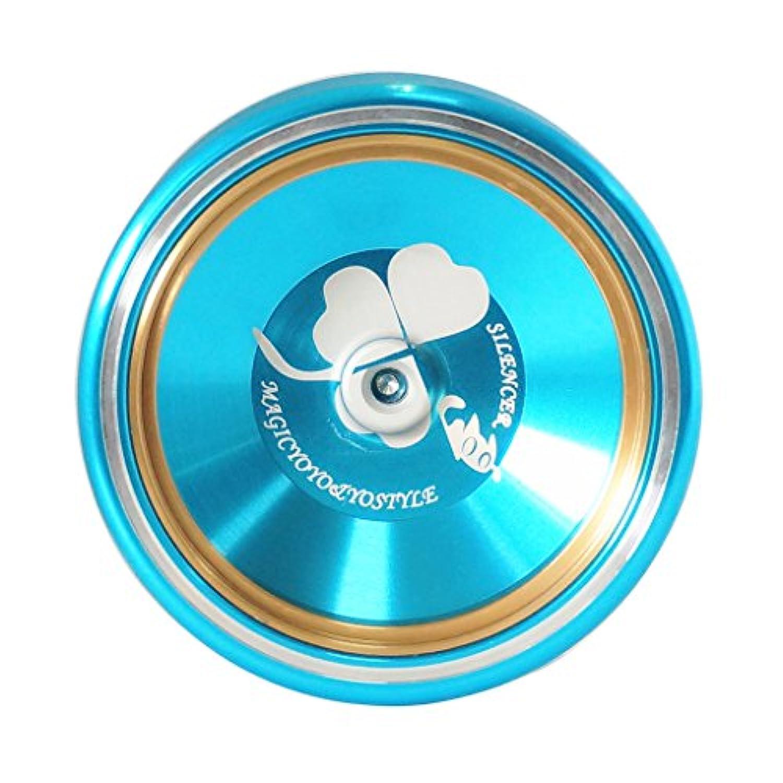 Perfk 3カラー選ぶ ヨーヨー ベアリング ストリング M001- B ヨーヨーボール ゲーム 運動 ギフト アルミ合金製 - 青
