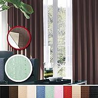窓美人 センチュリオン 完全遮光 特殊コーティングカーテン 幅100×丈178cm 2枚入り グリーン ストライプ柄 断熱・遮熱・防音 形状記憶付