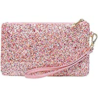 Lam Gallery Womens Shiny Clutch Purse Glitter Evening Clutch Bling Wallet Bag