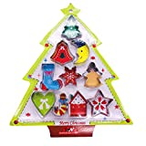 Tumao 10枚セット クリスマス クッキー型 クッキーカッター 抜き型 ステンレス鋼 クリスマスツリー ベル ハート型 かわいい デザイン手作り 製菓 砂糖クッキー 金型 クリスマス DIY チョコ手作り クリスマス 雑貨 クリスマス プレゼント パーティーに最適