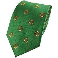 Mens Wreath Print Holiday Christmas Neckties Tie Woven Neck Tie
