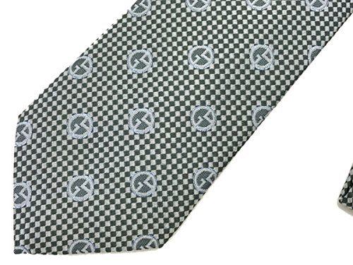 (ジョルジオアルマーニ) GIORGIO ARMANI シルク ネクタイ アルミニウム グリーンシルバー 360054-7A911-06342 [並行輸入商品]