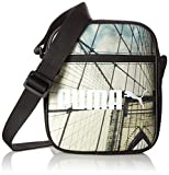 プーマ キャンパス Puma Campus Portable Shoulder Bag Black/Bridge Graphic 19.5 x 7.6 x 21 cm, 1.5 Litre, 074164 01