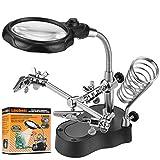 Lnchett Led Light Magnifier & Desk Lamp Helping Hand with Magnifying Glass