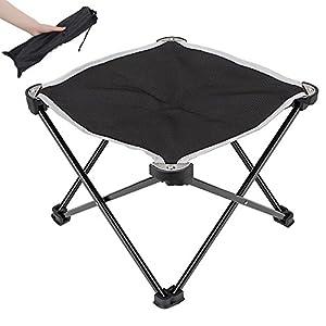 【折りたたみチェア・アウトドア用】 Linkax キャンプチェア コンパクト 軽量 組み立て椅子 耐荷重80kg 専用ケース付き (折り畳みチェア) (ブラック)