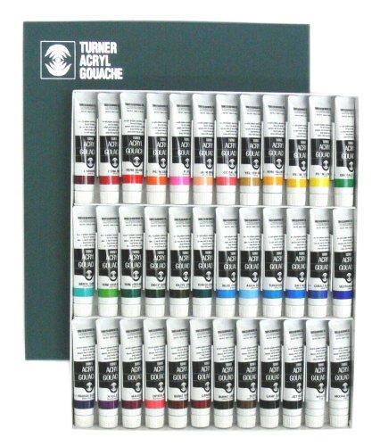 ターナー色彩 アクリルガッシュ 36色セット AG02036C 20ml(6号)
