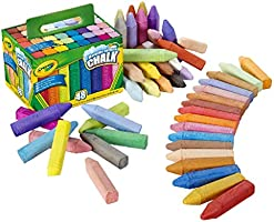 Crayola Washable Sidewalk Chalk 48 Pack, 48 Bold, Bright Colours, Creative Outdoor Art, Perfect for Outdoor Kids'...