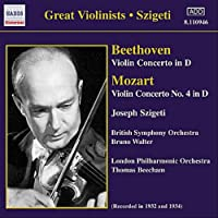 モーツァルト:ヴァイオリン協奏曲第4番/ベートーヴェン:ヴァイオリン協奏曲 Op. 61(シゲティ)(1932, 1934)