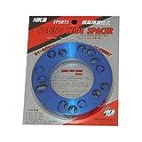 HKB SPORTS レーシングワイドスペーサー(4穴・5穴兼用) P.C.D.100~114.3 5mm ブルー 2枚入りHKRWSB5