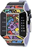 01TheOne 腕時計 ロメロブリトー SC125B1 Split Screen Romero Britto Art Purple Watch 【並行輸入品】