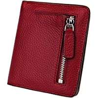 BIG SALE-AINIMOER Women's RFID Blocking Leather Small Compact Bifold Pocket Wallet Ladies Mini Purse with id Window