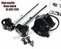 Black Cafe Gauge + Headlight Mount clip on for Harley Sportster IRON XL883 1200R Nightster Roadster 08-12