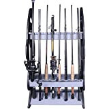 Croch 16 Fishing Rod Holder Storage Rod Rack Fishing Pole Stand Garage Organizer Holds Any Type of Rod Or Hiking Sticks Keep It Steady