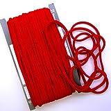 【手芸】カラーロープ(ひも)(太)赤 (09)(★1mで108円です。10cm単位ではありません)