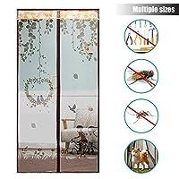 磁気スクリーン ドア, 完全なフレーム ヘビーデューティ メッシュ カーテン 自動的に閉鎖します。 防蚊ネット バグを維持します。 家のドアに-M 85x200cm(33x79inch)