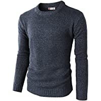 H2H Mens Casual Slim Fit Pullover Sweaters Knitted Basic Designed