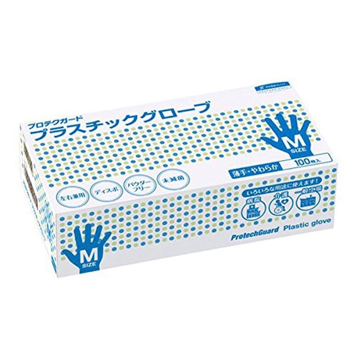 トラフィック者こする日本製紙クレシア:プロテクガード プラスチックグローブ Mサイズ 100枚×10ボックス