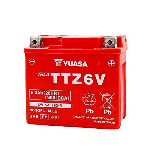 台湾ユアサ YUASA TTZ6V バイクバッテリー充電...