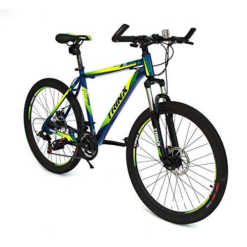 Trinx M136 MTB Mens Mountain Bike Shimano Gear 21-Speed Blue Green