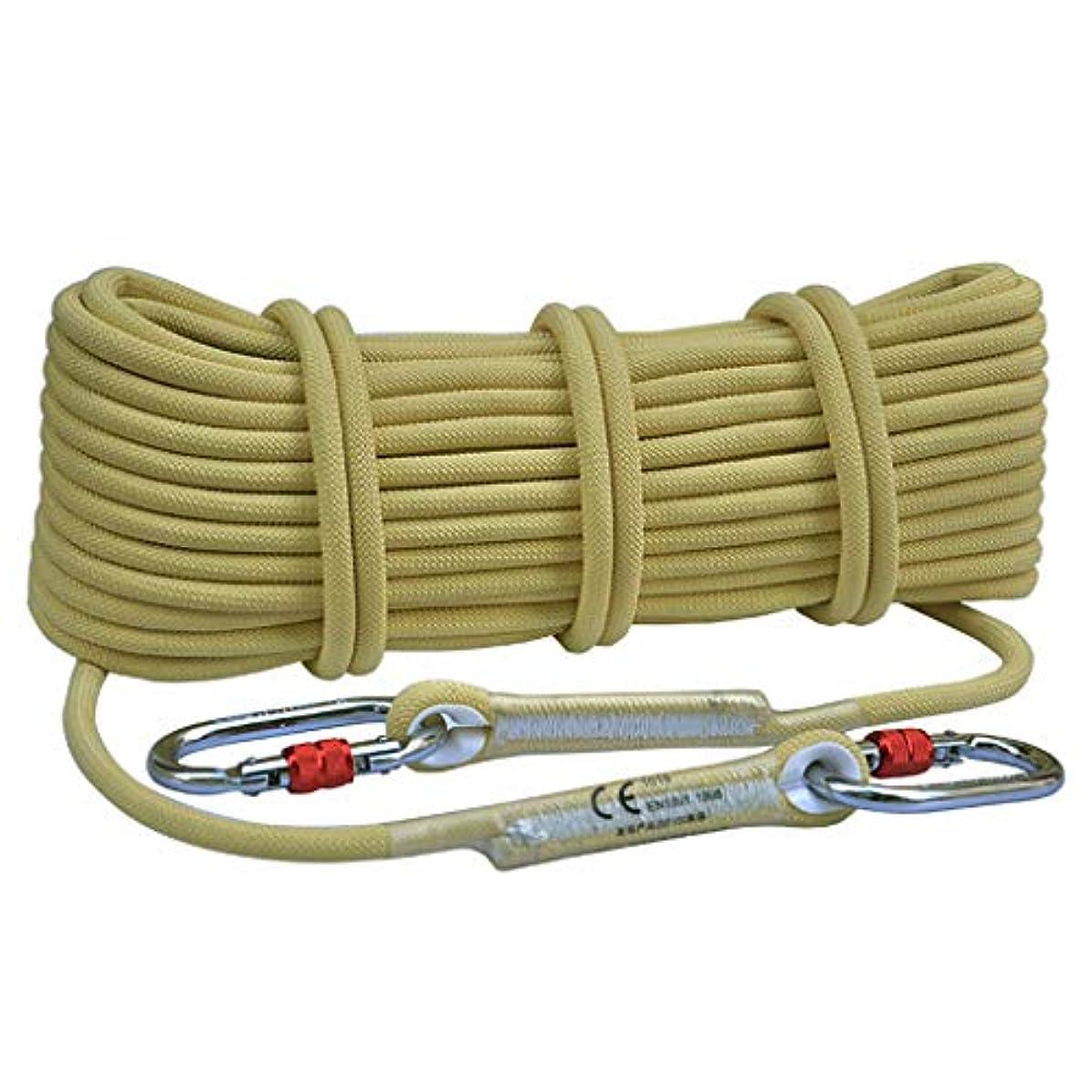 暫定到着する逃れるKTYXDE エスケープロープ静電ロープケブラーロープ難燃性高温耐性直径8 / 10.5 mm クライミングロープ (Size : 8mm 70m)
