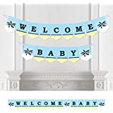 Airplane - Baby Shower Bunting Banner - Airplane Party Decorations - Welcome Baby [並行輸入品]