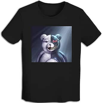 プリント 半袖シャツ メンズ T-Shirt Monokuma ダンガンロンパ Tシャツ White