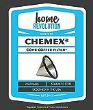 ホーム革命再利用可能なステンレススチール円錐コーヒーフィルターフィットChemex fs-1006810カップコーヒーメーカー、Hario v600203Drippers、Bodum 8Cup Brewer