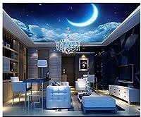 3d壁紙、壁画、天井、シルク布3dファンタジーStarry Moonリビングルームゼニス天井天井、ayzr asg513ag1531465