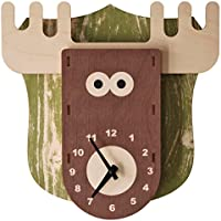 modern moose(モダン ムース) 3D ウォール クロック 壁掛け時計 手作り 大鹿