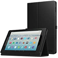 NEW-Fire HD 10 ケース - ATiC Fire HD 10 タブレット (Newモデル) 2017用 全面保護型 薄型スタンドケース BLACK
