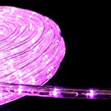 【ピンク】LEDイルミネーション ロープライト チューブライト 50m 防水仕様