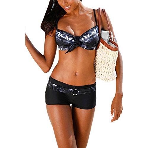 (ラシューバー)Lasuiveur 水着 ビキニ 二点セット レディース 水泳 温泉用 欧米人気 セクシー 美胸 パッド入り ワイヤ付き スイムウェア