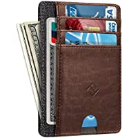 Slim Minimalist Front Pocket Wallet, Fintie RFID Blocking Credit Card Holder Card Cases with ID Window for Men Women