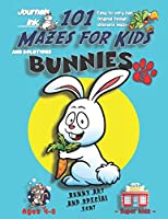 101 Mazes For Kids 2: SUPER KIDZ Book. Children - Ages 4-8 (US Edition). Cartoon Happy Bunny Rabbit & Carrot w custom art interior. 101 Puzzles w solutions -Easy to Very Hard learning levels -Unique challenges & ultimate mazes book for fun activity time! (Superkidz - Bunnies 101 Mazes for Kids)