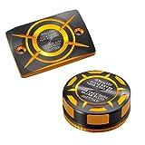 【Amazon.co.jp 限定】DAYTONA(デイトナ) PREMIUM ZONE マスターシリンダーキャップセット ゴールド MT-09/TRACER(14-19)、TRACER900/GT(18-19)、XSR900/700(16-18)、MT-07(14-18)用 99520