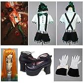 高品質コスプレ衣装 VOCALOID 初音ミク Mrs.Pumpkinの滑稽な夢 衣装+ウィッグ+靴◆コスチューム、コスプレ