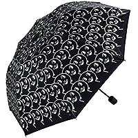Spbamboo 折りたたみ式雨よけサンシェード 傘 紫外線対策 日傘 雨 おもしろ傘 As picture ブラック
