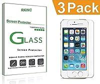 RKINCスクリーンプロテクター にとってApple iPhone 7 8 Plus、[3パック] 強化ガラスクリアスクリーンプロテクター[9H硬度] [2.5Dラウンドエッジ] [スクラッチレジスト] にとってApple iPhone 7 8 Plus