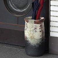 信楽焼 古陶白窯変傘立て しがらき焼 笠立て 陶器 おしゃれ kt-0133