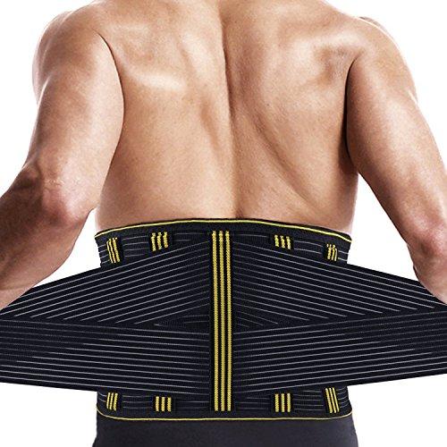 腰 サポート ベルト サポーター SZ-Climax ぎっくり腰 腰痛ベルト スポーツ トレーニング 伸縮性 コルセット 姿勢矯正 シェイプアップベルト ユニセックス (L)