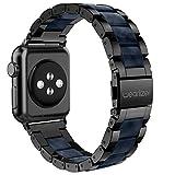 Apple Watch バンド/Apple Watch 3バンド,Wearlizer アップルウォッチ ベルト ステンレス 軽量 調整工具付 38mm ブラック