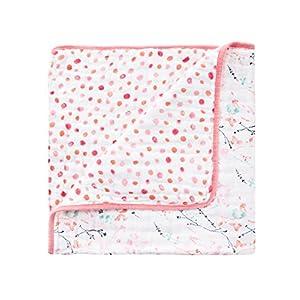 aden + anais (エイデンアンドアネイ) 【日本正規品】 モスリンコットン ミニ・ドリーム・ブランケット(ペタルブルーム)petal blooms mini dream blanket 6081
